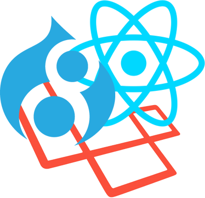 Drupal 8, Laravel and React icon